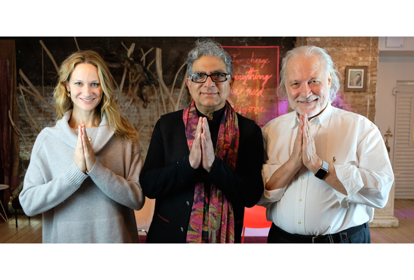 Deepak Chopra, Sarah Finger & Alan Finger